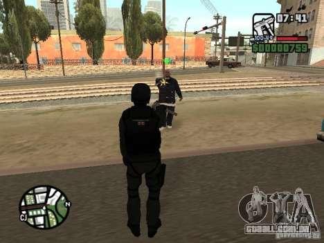 Umbrella soldier para GTA San Andreas quinto tela