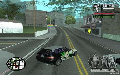 Honda Sivic drift para GTA San Andreas vista traseira