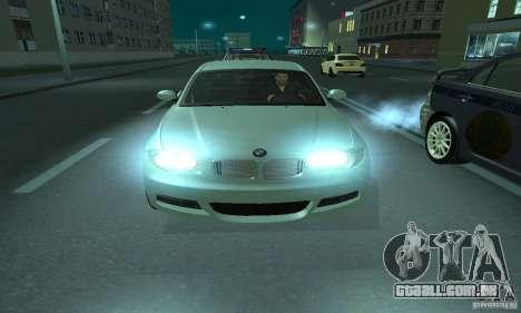 BMW 135i Coupé para GTA San Andreas vista traseira