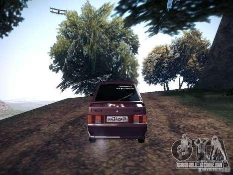 Ваз 2114 Pneumo para GTA San Andreas traseira esquerda vista