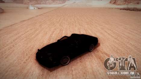Pontiac Firebird Trans Am para GTA San Andreas vista interior