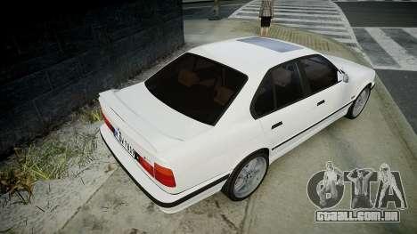 BMW M5 (E34) 1995 v1.0 para GTA 4 traseira esquerda vista
