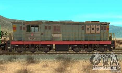 Locomotiva ChME3-4287 para GTA San Andreas traseira esquerda vista