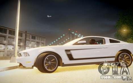 Ford Mustang 2012 Boss 302 v1.0 para GTA 4 esquerda vista