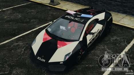 Lamborghini Sesto Elemento 2011 Police v1.0 ELS para GTA 4
