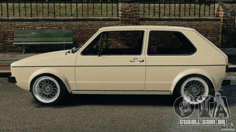 Volkswagen Golf Mk1 Stance para GTA 4 esquerda vista