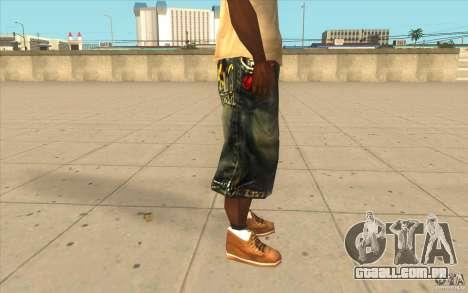 The BIG Makaveli Short Jeans para GTA San Andreas por diante tela