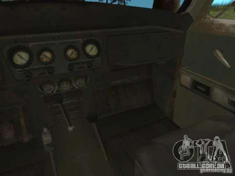 UAZ-31519 do COD MW2 para GTA San Andreas vista interior