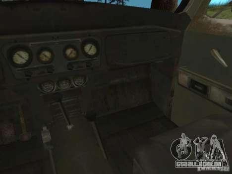 UAZ-31519 do COD MW2 para GTA San Andreas vista interior