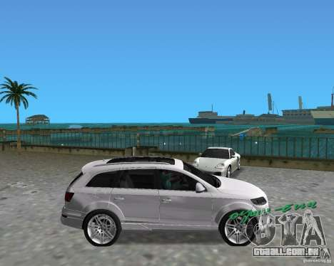 Audi Q7 v12 para GTA Vice City vista direita