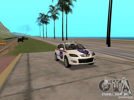 Mazda 3 Police para GTA San Andreas vista direita