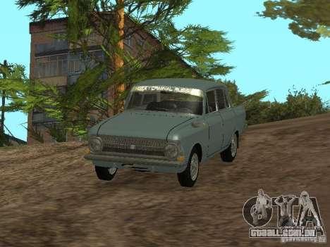 IZH 412 Moskvich para GTA San Andreas vista direita