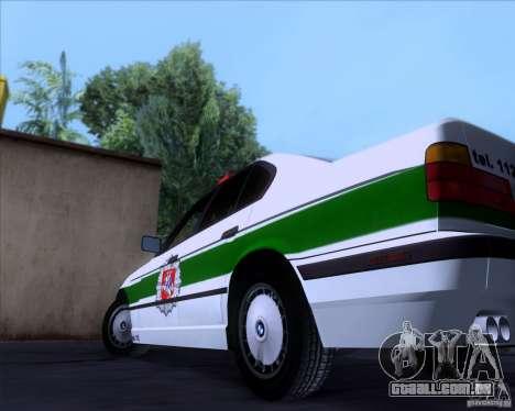 BMW E34 Policija para GTA San Andreas vista interior