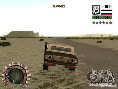 Adição à moda rádio Cinema para GTA San Andreas terceira tela