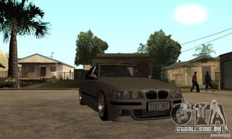 BMW E39 M5 Sedan para GTA San Andreas vista traseira