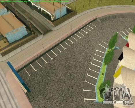 Novas texturas de Los Santos estádio Fórum para GTA San Andreas quinto tela