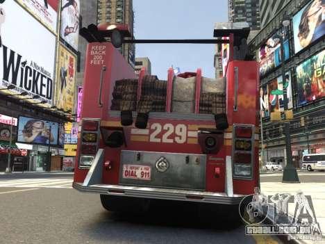 Fire Truck FDNY para GTA 4 vista direita