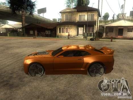 Chevrolet Camaro SS Dark Custom Tuning para GTA San Andreas esquerda vista