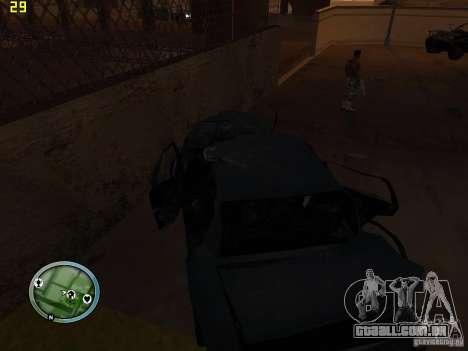 Carros quebrados na Grove Street para GTA San Andreas sexta tela
