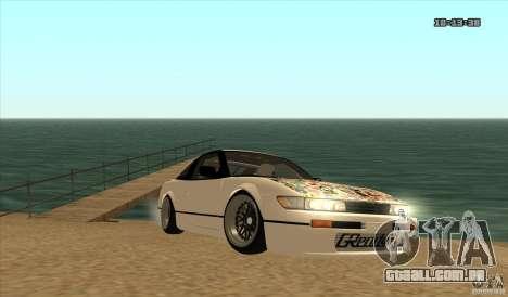 Nissan Sil180 JDM para GTA San Andreas traseira esquerda vista