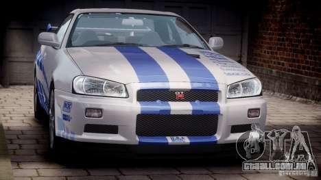 Nissan Skyline GT-R34 FNF para GTA 4