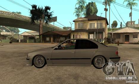 BMW E39 M5 Sedan para GTA San Andreas esquerda vista