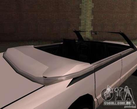 Táxi Cabriolet para vista lateral GTA San Andreas