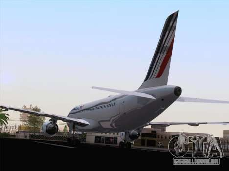Airbus A320-211 Air France para GTA San Andreas vista traseira
