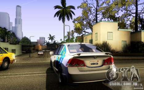 Honda Civic FD BlueKun para GTA San Andreas vista interior