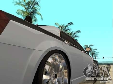 Chrysler 300 C para GTA San Andreas traseira esquerda vista