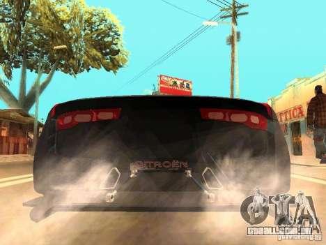 Citroen GT Gran Turismo para GTA San Andreas traseira esquerda vista