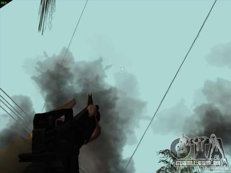 M16A4 para GTA San Andreas por diante tela