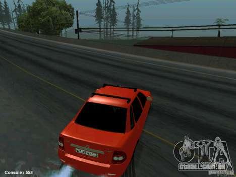 LADA 2170 102-RUS para GTA San Andreas vista direita