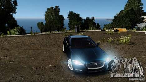 Jaguar XJ 2012 para GTA 4 vista inferior