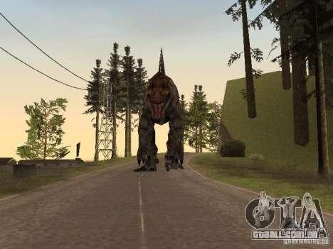 Dinosaurs Attack mod para GTA San Andreas nono tela