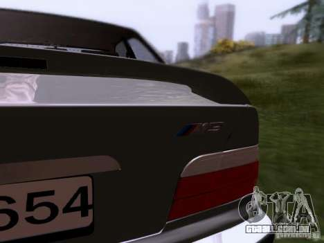 BMW E36 Drift para GTA San Andreas vista interior