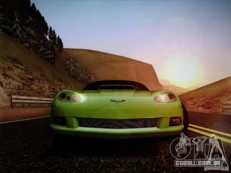 Chevrolet Corvette C6 para GTA San Andreas vista direita