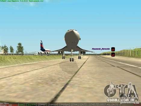 Concorde [FINAL VERSION] para GTA San Andreas vista traseira