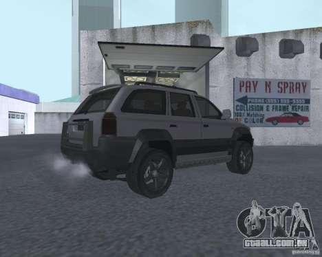 SUV de NFS para GTA San Andreas vista direita