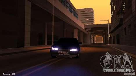 BAZ 21099 para GTA San Andreas vista superior