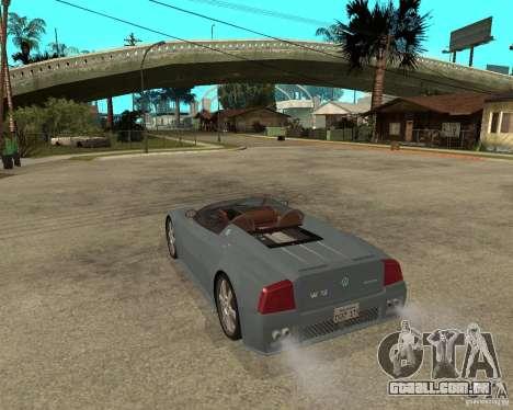 Volkswagen W12 para GTA San Andreas esquerda vista