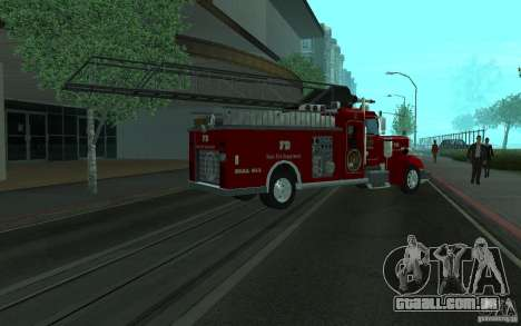 Peterbilt 379 Fire Truck ver.1.0 para GTA San Andreas vista interior