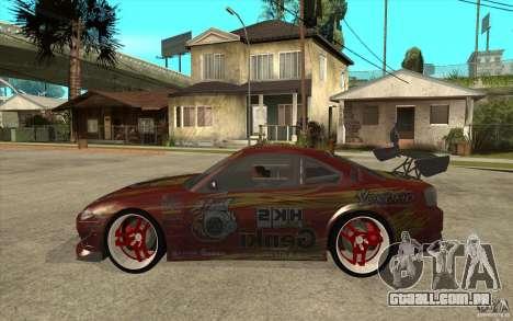 Nissan Silvia HKS Genki para GTA San Andreas esquerda vista