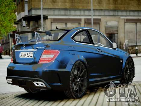 Mercedes-Benz C63 AMG Black Series 2012 v1.0 para GTA 4