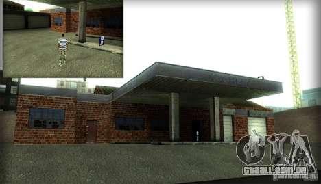 Novas texturas para a garagem e o prédio em San  para GTA San Andreas