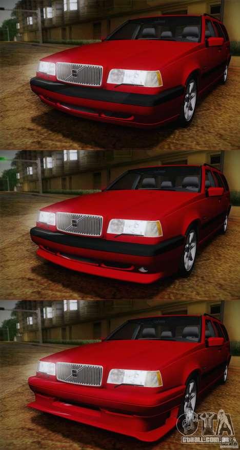 Volvo 850 Estate Turbo 1994 para GTA San Andreas vista traseira
