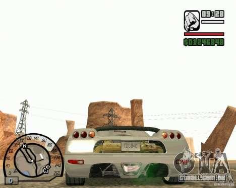 Koenigsegg CC8S para GTA San Andreas vista direita
