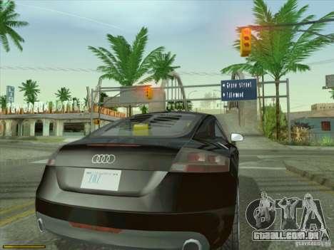 Audi TT Custom para GTA San Andreas traseira esquerda vista