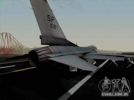 F-16C Warwolf para GTA San Andreas interior