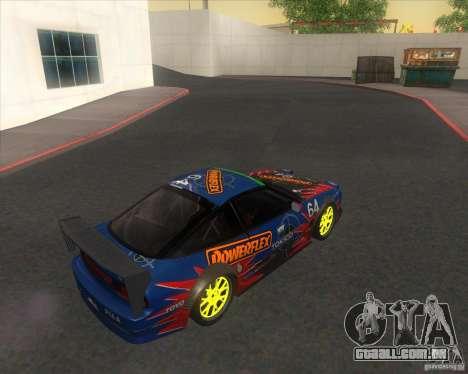 Nissan 240SX for drift para GTA San Andreas esquerda vista